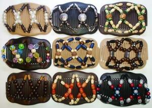 """Angel Wings Hair Clips 4x3.5"""", African Butterfly Style, Magic Combs, Quality S95"""