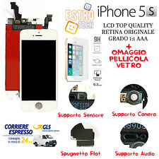 Lcd per Apple iphone 5s Bianco Display Originale Tianma Retina Frame Schermo,+*.