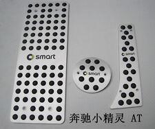 Aluminum Car  Foot Pedals Footrests & Plates Cover For Benz  Smart AT