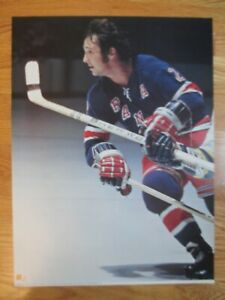 The Official 1973 NHL Game Action BRAD PARK No. 2 NEW YORK RANGERS Poster