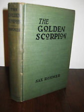 THE GOLDEN SCORPION Sax Rohmer MYSTERY Crime THRILLER 1920 Edition CLASSIC Novel