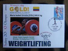 SOUVENIR SYDNEY OLYMPICS GOLD MEDAL COVER - MARIA URRUTIA WOMENS WEIGHTLIFTING