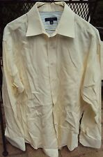Mens TED BAKER London Contrasting Cuffs Size 16 34/35 100% Cotton Yellow Shirt