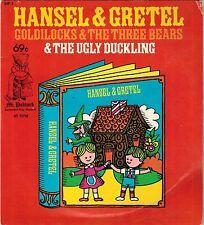 45 RPM Hansel & Gretel, Goldlilocks & The Three Bears, The Ugly Duckling Record