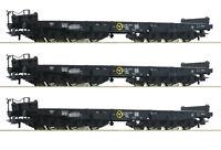 """Roco H0 76828-S Schwerlastwagen """"Samms"""" der DB 6-achsig (3 Stück) - NEU + OVP"""