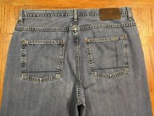 NAUTICA  LOOSE JEANS HAND MEASURED SIZE 37 x 31 MISSING TAGS BEST E5u