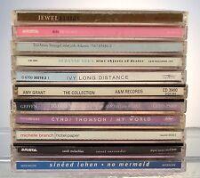 10 CD MUSIC LOT JEWEL-DIDO-TORI AMOS-SUZANNE VEGA-IVY-AMY GRANT-10,000 MANIACS.