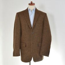 HARRIS TWEED Walbusch Sakko Jacket Gr 54 Plaidmuster Wolle Wool HERBST GrünBraun