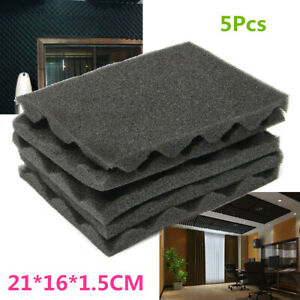 5x Acoustic Foam Egg Packing Panels Tiles Studio Sound Proofing Treatment Absorb