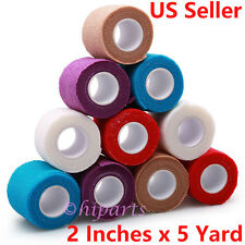 Adhesive Bandages Self-adhesive Cohesive Wrap Tape by Lotfancy Elastic FDA 10