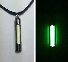 Green Europium phosphorescent Glow in the dark Necklace