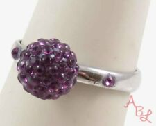 D Amore Baci Sterling Silver Vintage 925 Ball Amethyst Ring Sz 7 (2g) - 745081