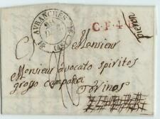 France 1833 letter AVRANCHES to TORINO/Piemont