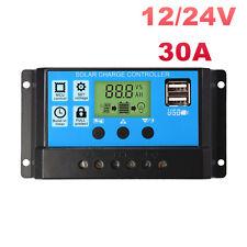 30A 12V-24V Solar Laderegler Solarregler Controller Regulator Ampere LCD Display