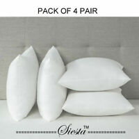 Pack of 4 Pillows Luxury Bounce Back Hollow Fibre Filling Pillow Pair