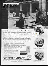 BRITISH RAILWAYS 1963 JUST A SHORT TRAIN RIDE TO BATH SEAT OF THE ROMANS AD