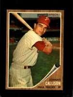 1962 TOPPS #17 JOHNNY CALLISON EXMT PHILLIES *SBA7129