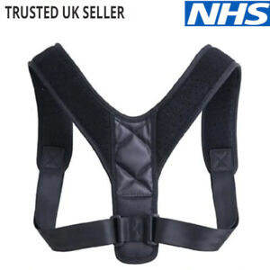 Posture Corrector Body Brace Back Lumbar Shoulder Support Belt Women Men UK