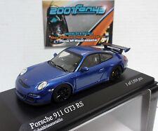 PORSCHE 911 GT3 RS 2006 BLUE AZUL MET. 1/43 MINICHAMPS
