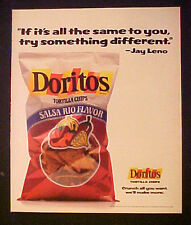 1989 Jay Leno Host TV Tonight Show~Jays Garage Doritos Tortilla Chips Snack AD