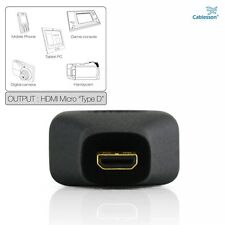 Micro HDMI Type D to HDMI Adapter M/F Coupler Converter Adaptor for Blackberry