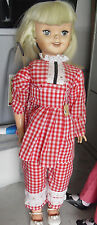 "HUGE Vintage 1960 Uneeda Walt Disney Props Pollyanna Girl Doll 31"" Tall"