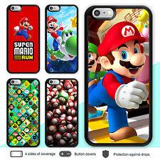 iPhone X 8 7 Plus 6s Plus Case Super Mario Bumper Print Cover for Apple SE 5s 4s