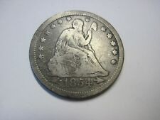 Circulated 1854 Liberty Seated Quarter Variety 3 Arrows at Date Ungraded