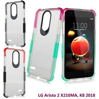 LG K8 2018, LG Zone 4, Aristo 2 X210MA Slim Bumper Corner Shockproof TPU Case