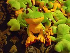 """Adorable"" Webkinz Plush Tree Frogs with Unused Code - Ganz"