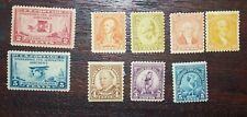 Lot of 9 Mint Hinged Stamps #649, #650, #687, #711, #713, #714, #715, #718, #719