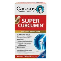 Caruso's Super Curcumin 90 Tablets Anti-Inflammatory Supports Joints Carusos