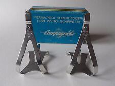 *Vintage 1970s/80s Campagnolo Super Record Alu pedal toe clips - Small*