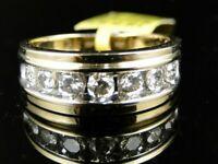 2.ct 10K Round Diamond Yellow Gold Over Mens Engagement & Wedding Band Ring