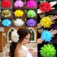 New Flower Fascinator Elastic Pin Hair Wrist Corsage Wedding Bridal Party  BUAU