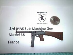 LD4   1/6 Homemade WWII MAS Sub-Machine Gun Model 38 France