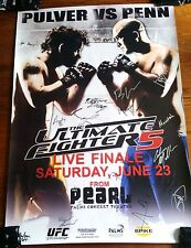 UFC TUF 5 BJ PENN SBC Poster 27x39 RARE Signed By THE ULTIMATE FIGHTER TUF DIAZ
