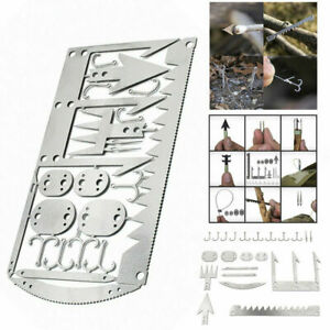 Camping Survival Multi Tool Card Wilderness Survival Gear Kit for Hunting Hiking