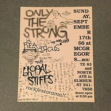 Original 1989 Flyer/poster Bhopal Stiffs Only The Strong Screeching Weasel