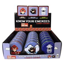Nintendo Super Mario Brothers Know Your Enemies Mints Metal Tin Box of 18 SEALED