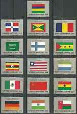 Timbres Drapeaux Nations Unies New York 440/55 ** lot 6730