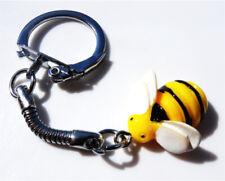 GORGEOUS HANDMADE CUTE BUMBLE BEE KEYRING + FREE GIFT BAG
