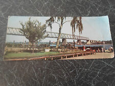 "Vintage Colour Panoramic PC The Bridge Across ""Lillebaelt"" Franked+Stamped"