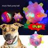 NEU Pet Dog Jumping Aktivierungsball LED blinkend Bouncing Chew Ball Spielzeug