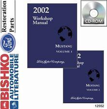 2002 Ford Mustang Shop Service Repair Manual CD Engine Drivetrain Electrical OEM