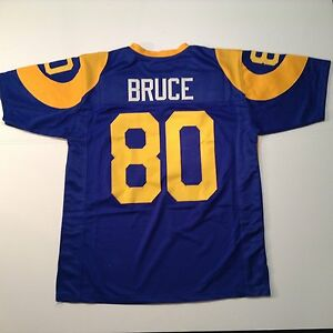 UNSIGNED CUSTOM Sewn Stitched Isaac Bruce Blue Jersey - Extra Large