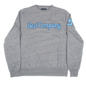Best Company Crewneck Sweater Jumper 69 2183 in Grey Melange - Various Sizes