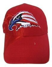 USA American Bald Eagle Head Red White Blue Shadow Embroidered Cap Hat