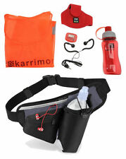 Running Jogging Water Bottle MP3 Smartphone Holder Waist Bag / Belt & Gift Set
