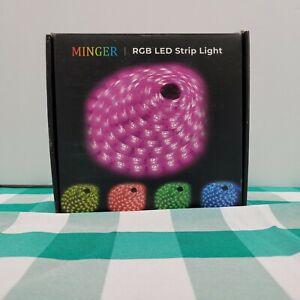 MINGER LED Strip Lights 16.4ft RGB With Remote 16.4 FT Color Changing